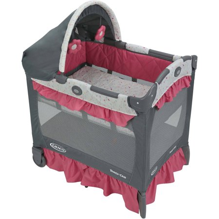 Graco Pack 'n Play Travel Lite Crib, Portable Baby Playard Crib, Alma