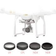 Sky Capture Series 4-Piece Filter Kit for DJI Phantom 3 Professional and Advanced (UV + CPL + ND4 + ND8)