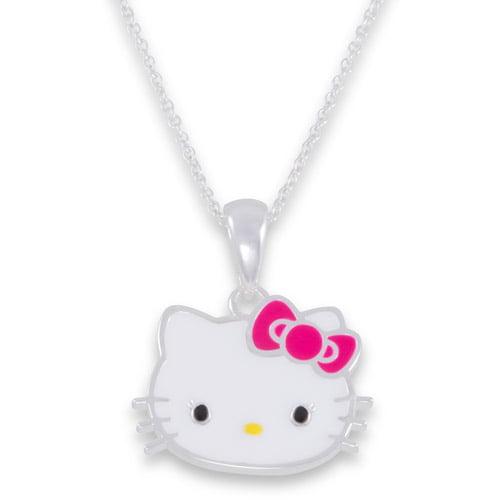 Brass Hello Kitty Face Pd W/ Chain