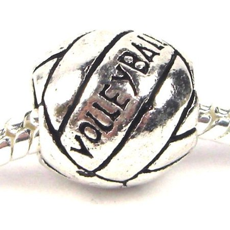 Volleyball Charm Bracelet (Volleyball Charm Bead. Compatible With Most Pandora Style Charm)