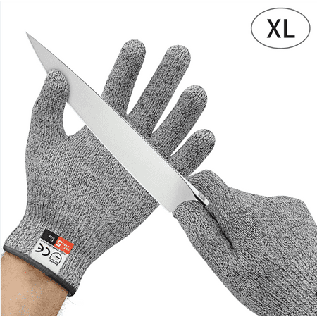 NoCry Cut Resistant Gloves Kitchen Large, TECBOX High Performance CE Level  5 Protection, Food Grade Kitchen and Work Safety Gloves - Size Extra Large,  ...