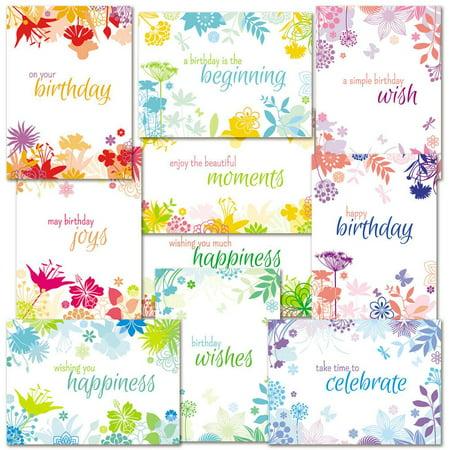 Botanical Birthday Cards Value Pack - Set of -