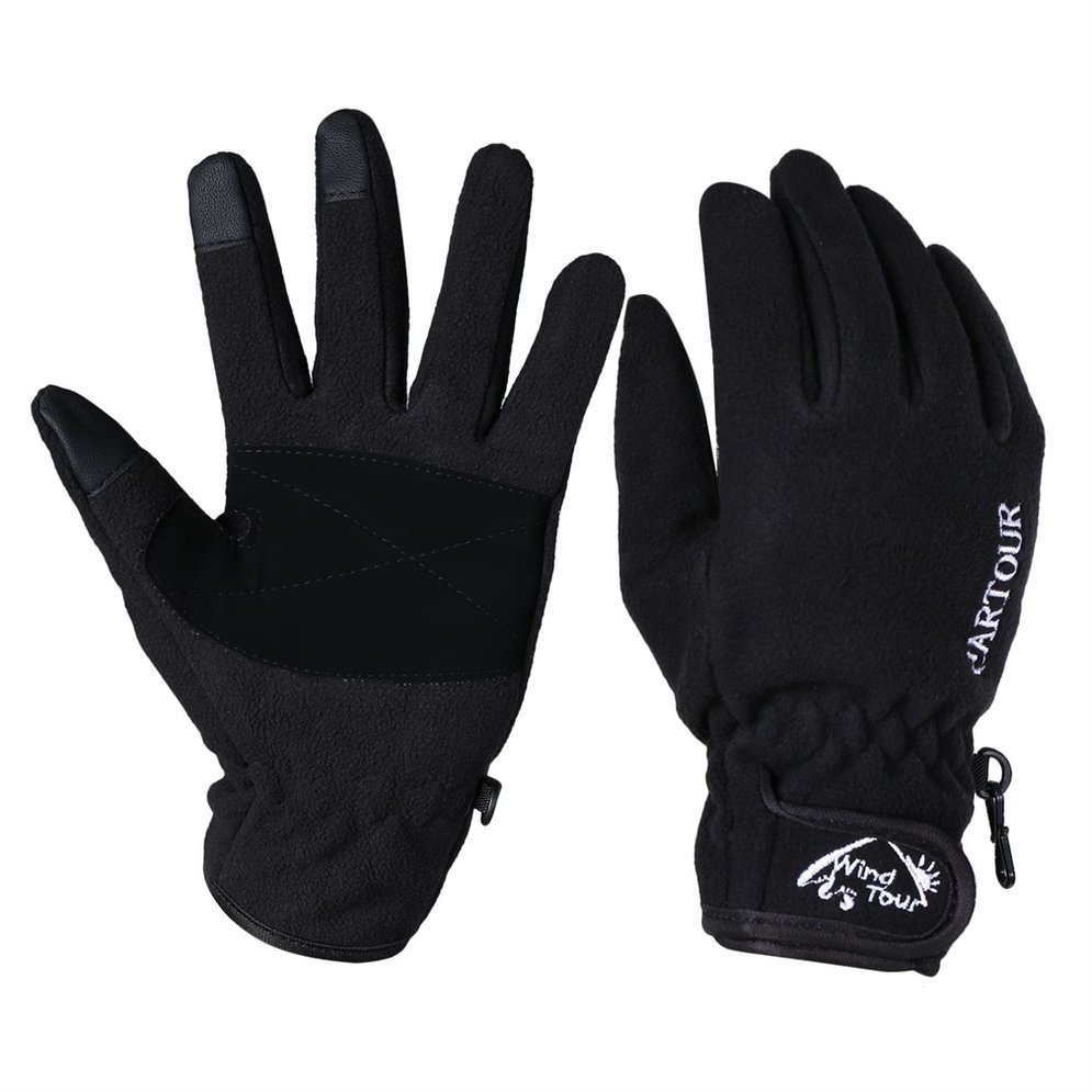 Bicycle T ouch Screen Sports Windproof Cycling Warm Full Finger Glove by