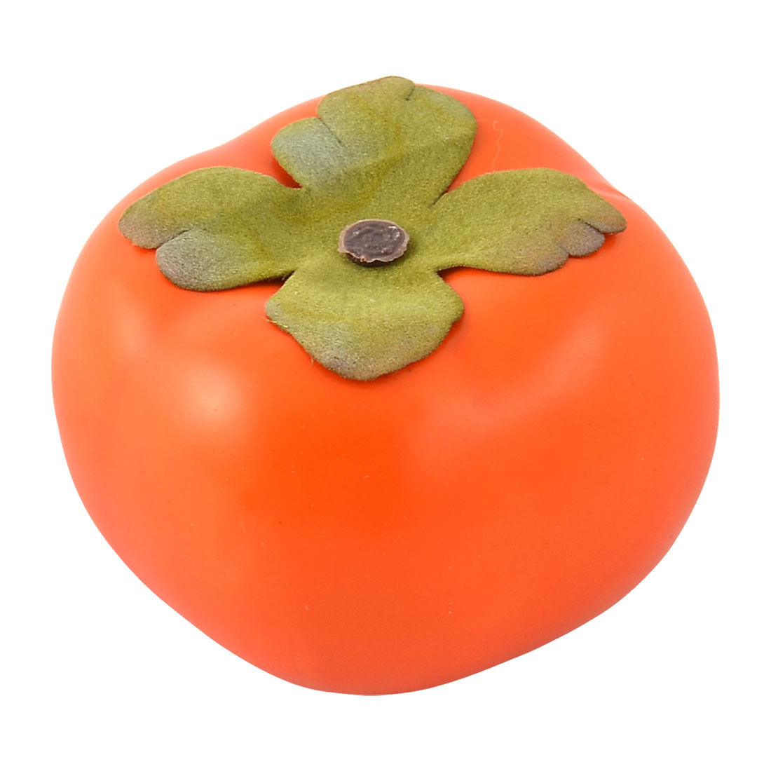 Artificial Fruit Foam Lifelike Decor Handmade Simulation Persimmon Orangered