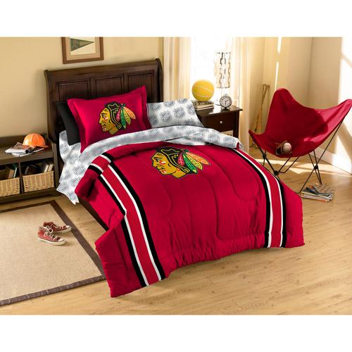 NHL Applique Bedding Comforter Set, Blackhawks