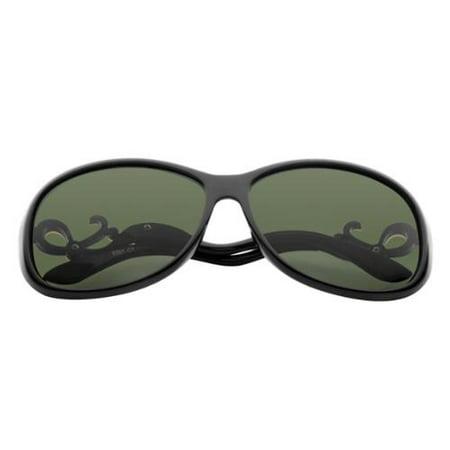 Women Polarized Sunglasses with 61mm Lens Bent Rhinestone Arm 100% UV Protection - (Are Polarized Lenses Uv Protected)