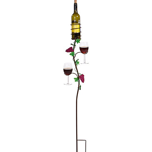 Picnic Plus Grapevine Double Glass, Bottle Holder Ground Stake