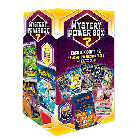Vintage Pokemon Cards Mystery Box 6- Online Exclusive | 1 Vintage Pack & 1 EX/GX Card Guaranteed | 4 Booster Packs
