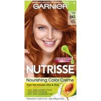 Garnier Nutrisse Nourishing Hair Color Creme, 643 Light Natural Copper, 1 kit