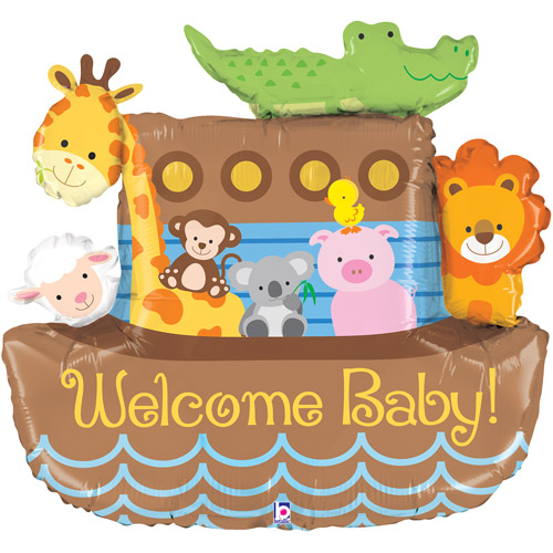 Noah's Ark Welcome Baby Foil Balloon