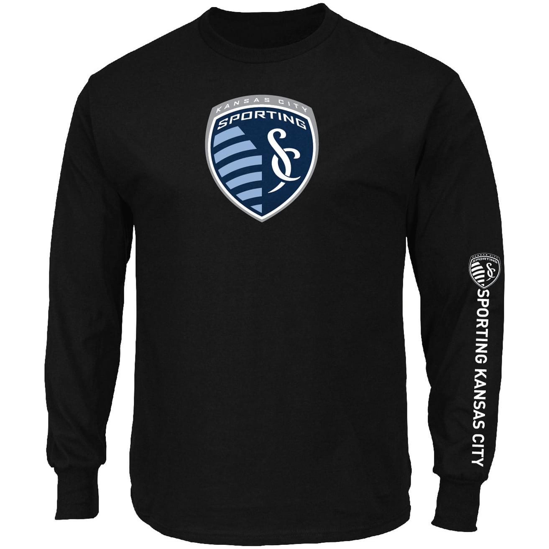 Sporting Kansas City Majestic Global Sensation Big & Tall Long Sleeve T-Shirt - Black