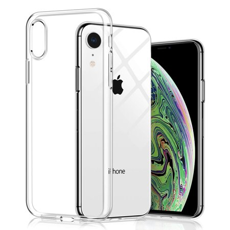 Tpu Sleeve - Luxmo for iPhone XR Case, Crystal Clear Ultra Thin Slim TPU Cellphone Cover, Transparent Shock Absorption Soft Skin Sleeve, Protective Flexible Rubber Gel/Silicone Shell for iPhone XR