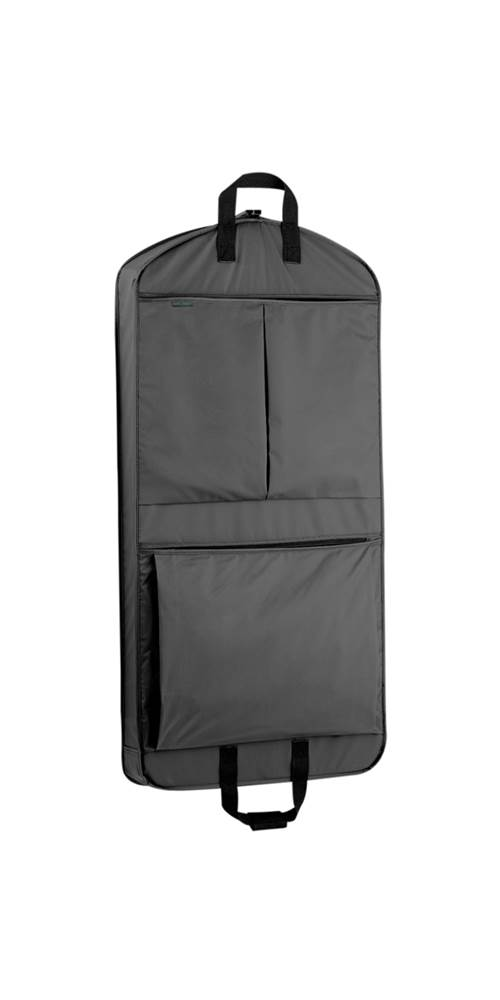 WallyBags 45 in. Mid Length Garment Bag w 2 Large Pockets in Black ...