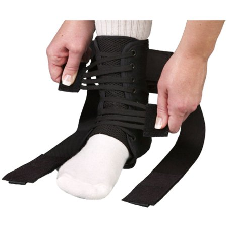 MedSpec ASO EVO Speed Lacer Ankle Brace Stabilizer Black Medium, Ballistic nylon boot: provides tremendous strength and durability By Med Spec