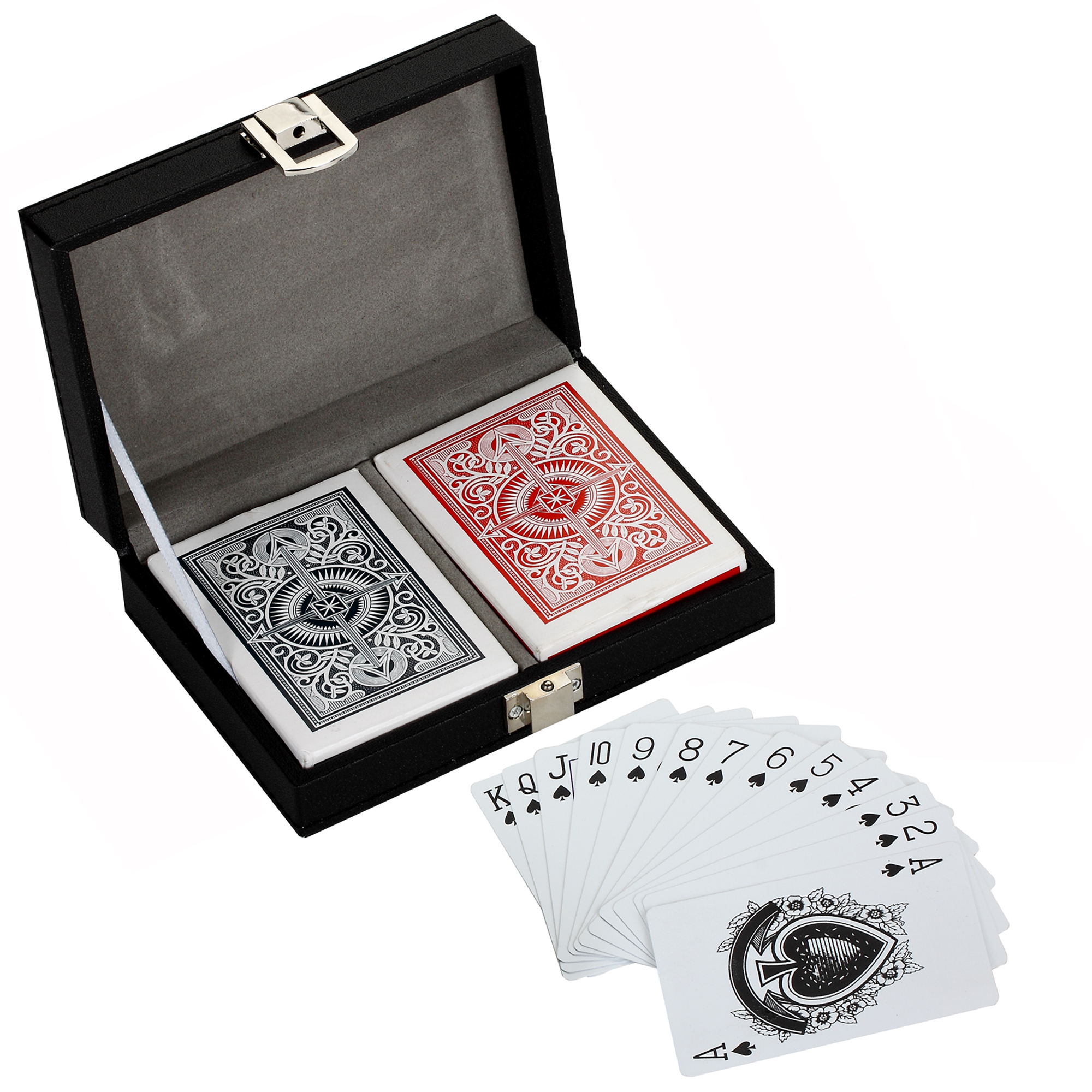 Monte Carlo Dual Deck Standard Playing Cards w  Case by Blue Wave Products