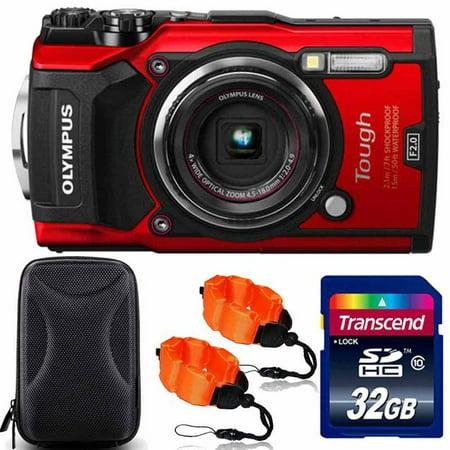 Olympus Tough TG-5 Waterproof Digital Camera Red With Premium Accessory