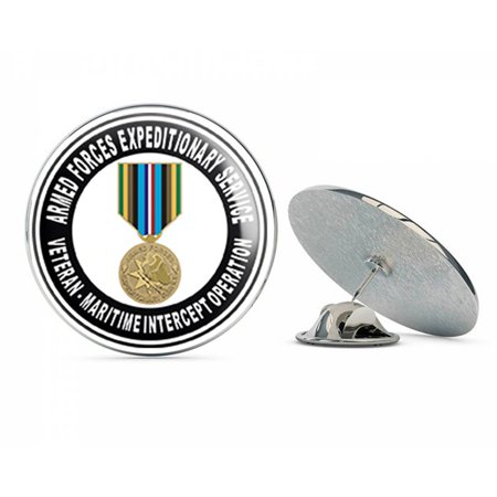 US Navy Armed Forces Expeditionary Medal Maritime Intercept Operation  Military Veteran USA Pride Served Gift Metal 0.75