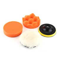 Fugacal 5Pcs 4  Polishing Buffing Pad Kit Tool For Car Polisher Buffer With M10 Drill Adapter,Polishing Pad, Car Polishing Pads