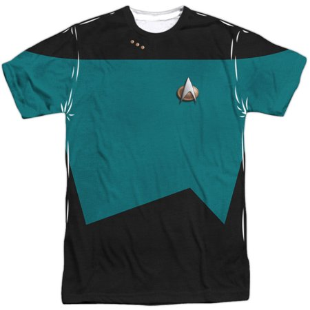 Star Trek Men's  Tng Science Uniform Sublimation T-shirt White - Star Trek 2 Uniform