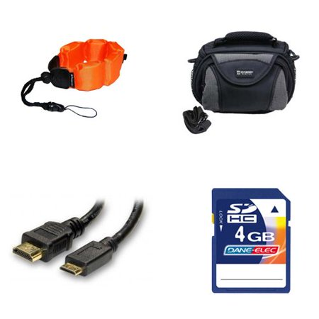 Coleman Memory - Coleman CVW16HD Camcorder Accessory Kit includes: KSD4GB Memory Card, ZE-FS10-OR Underwater Accessories, SDC-26 Case, HDMI3FM AV & HDMI Cable
