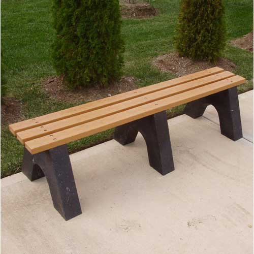 Jayhawk Plastics Recycled Plastic Commercial Sport Backless Bench