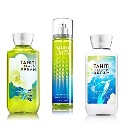 Bath & Body Works ~ Signature Collection ~ Tahiti Island Dream ~ Shower Gel ~ Fine Fragrance Mist & Body Lotion ~ Trio Gift Set