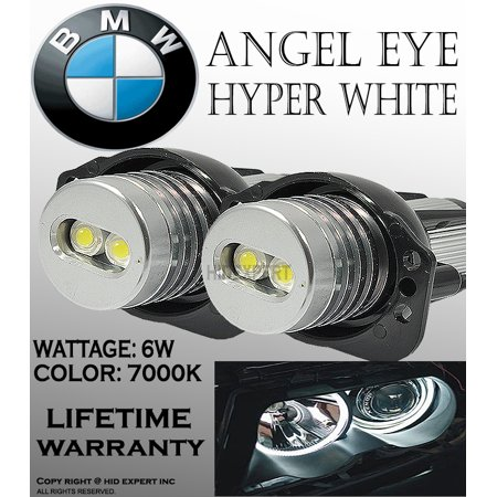 JDM E90,E91,63117161444 BMW ANGEL EYE HALO RING LED BULBS 7000K Super Bright White - Eye Rings