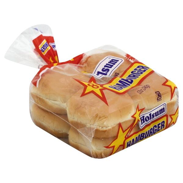 Holsum Hamburger Buns, 8 ct, 12 oz