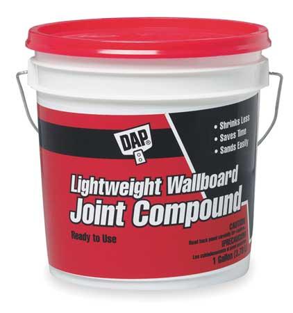 Dap 10114 1gal Lightweight Wallboard Joint Compound, Pail