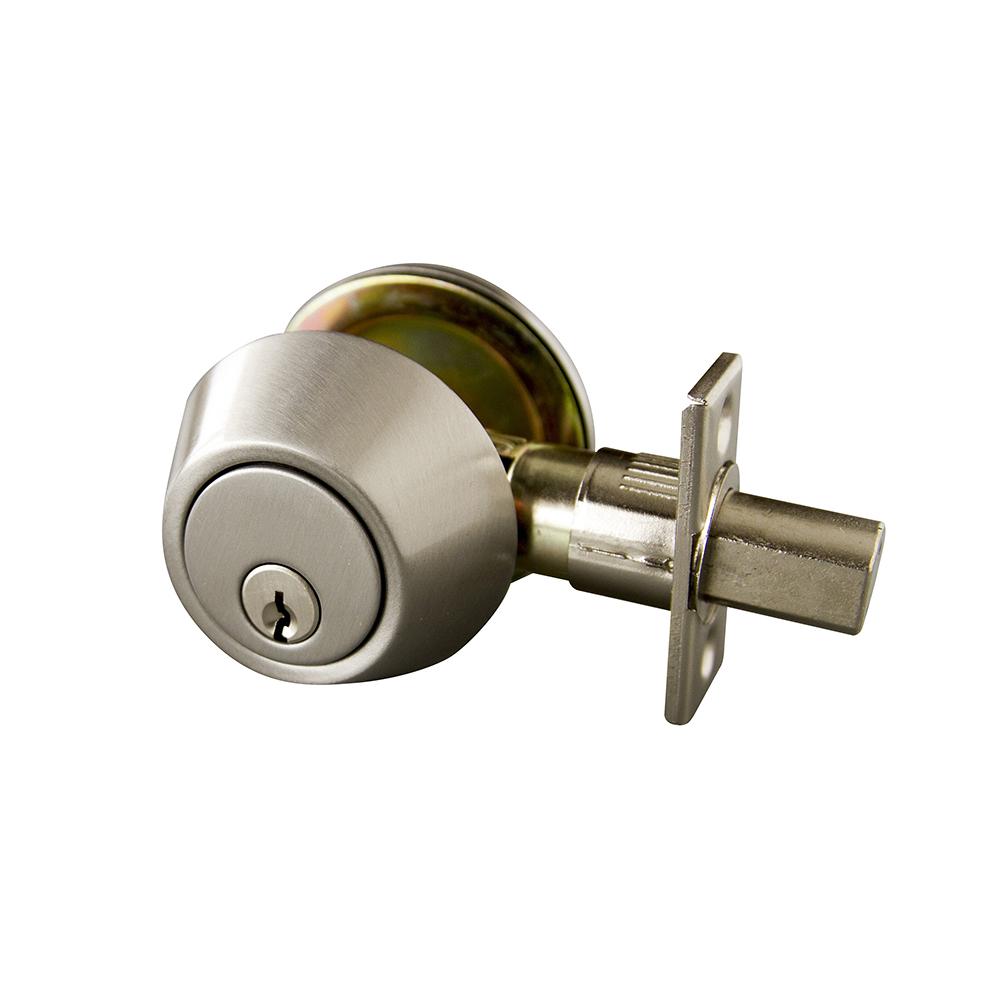 Brushed Bronze Design House 702613 Double Cylinder 2-Way Latch Deadbolt