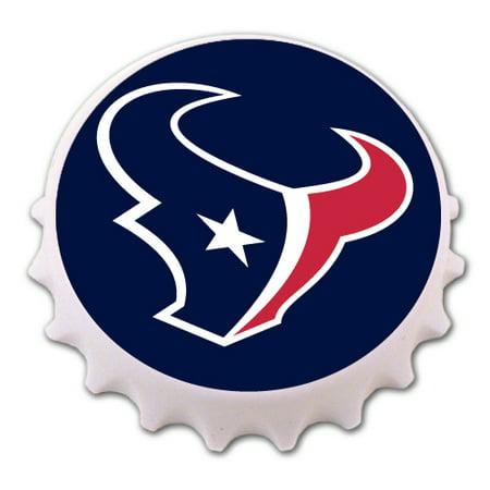 Houston Texans Bottle Cap Magnet Bottle Opener