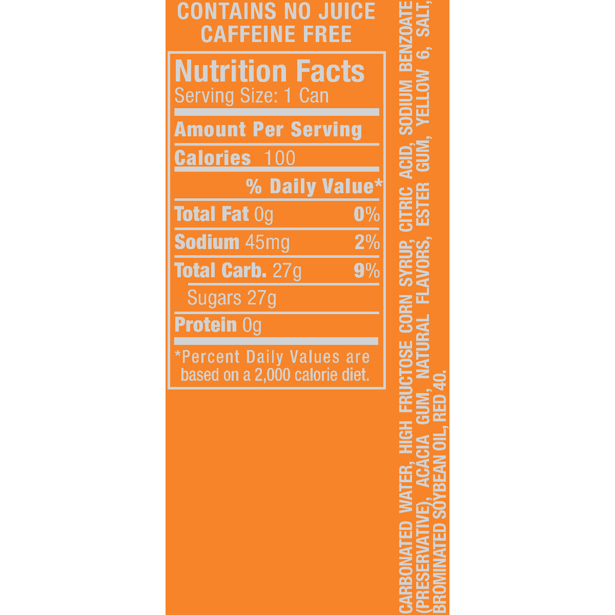 Crush Caffeine-Free Orange Soda, 7.5 Fl