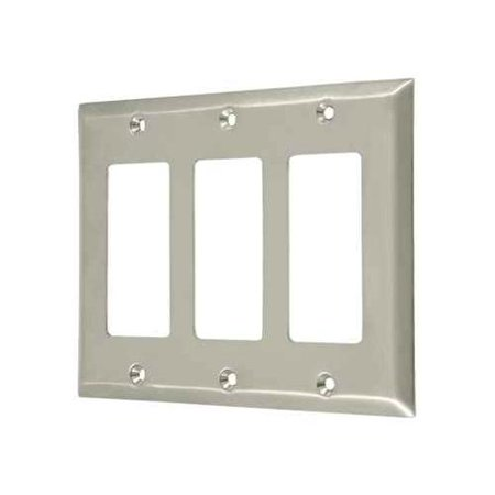 Triple Rocker Transitional Switch Plate - PVD Polished Brass