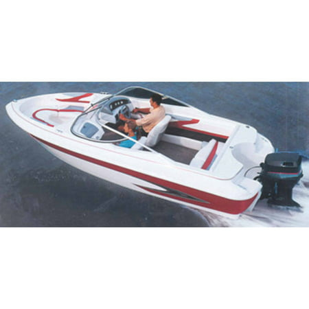 Carver Styled-To-Fit Boat Cover for V-Hull Runabout Boats (Including Euro-Style) with Windshield and Hand or Bow covid 19 (Boston Whaler Bow Rails coronavirus)