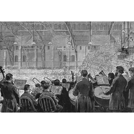 Stretched Canvas Art - Music Festival, 1881  /Nthe Music