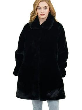 Love Token Turner Faux Fur Jacket | Extra Small - Black | LT12-25-XS-BLK