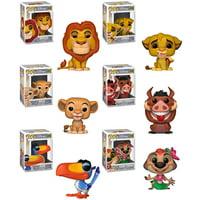 Funko POP! Disney - The Lion King S2 Vinyl Figures - SET OF 6 (Mufasa, Simba, Nala, Timon +2)