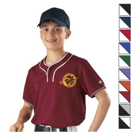 Image of Alleson 2-but Jersey Youth-Color: White/Black, Size: LRG