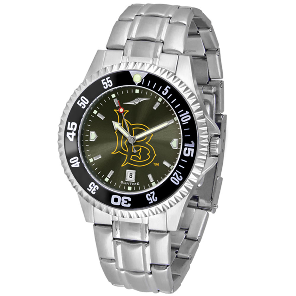 "CS Long Beach 49ers NCAA Anochrome ""Competitor"" Mens Watch (Color Bezel)"