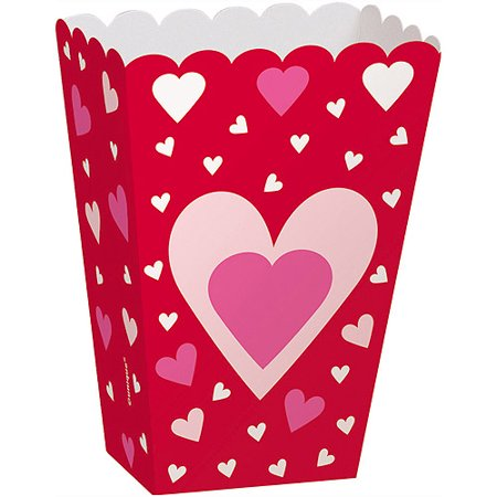 Hearts Valentine Treat Boxes, 6-Count - Valentine Day Box Ideas