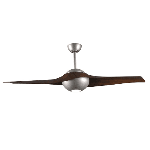Paddle-Style Ceiling Fan in Brushed Nickel Finish