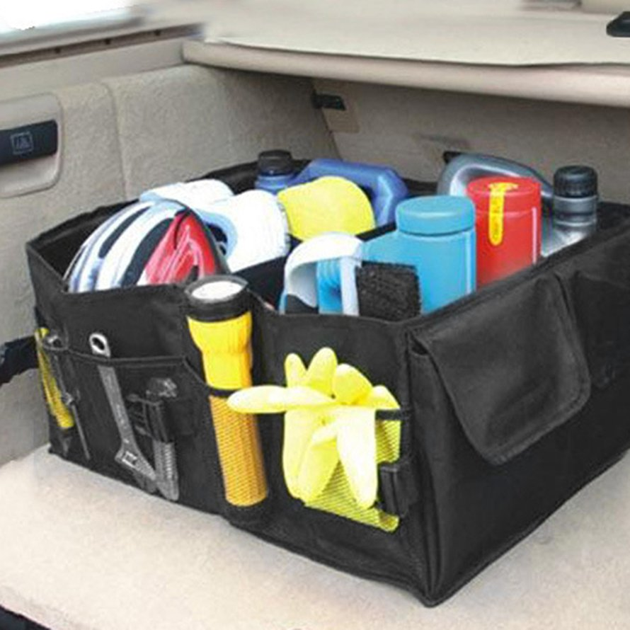 Large Waterproof Oxford Cloth Car Back Storage Box Multi-purpose Organizer