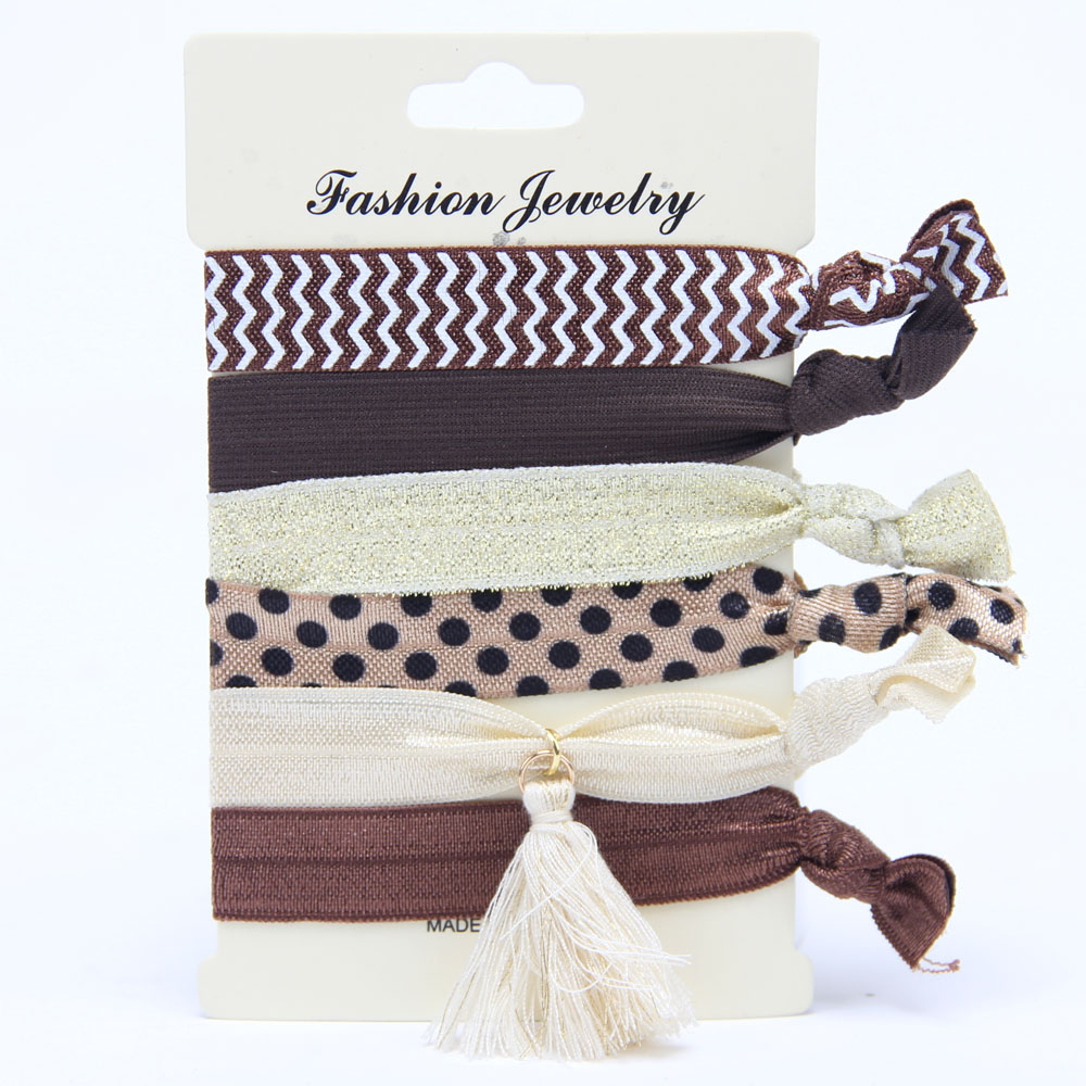 Gprince Korean Style Fashion Print Harajuku knotted Hair Rope Hair Bands Hair Accessories Style 2