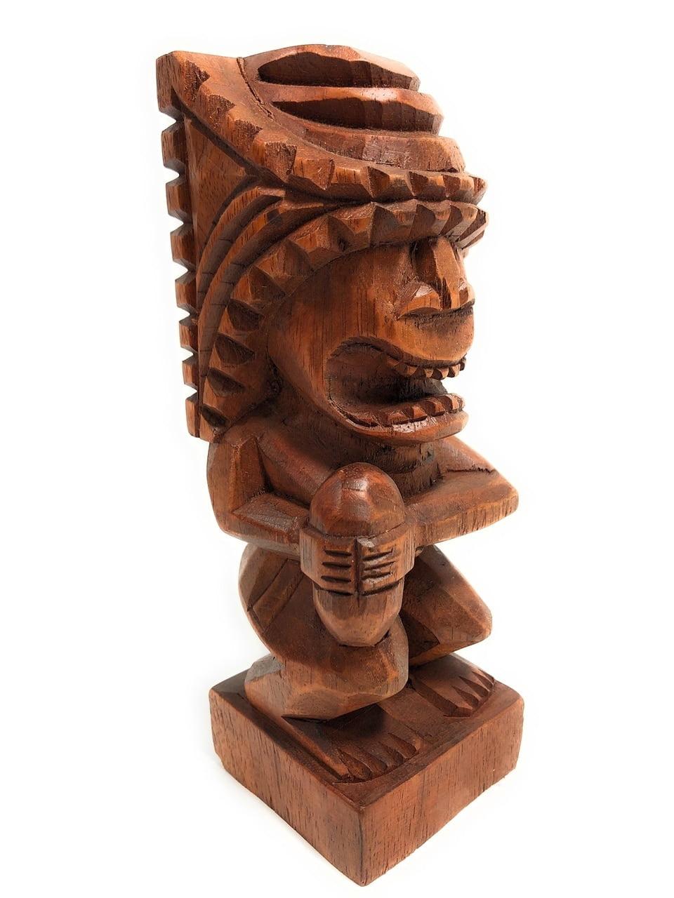 "Tiki Flag Football Trophy 8"" Kane Hand Carved Sporting Event | #blatff2018 by Tikimaster"