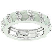 Sunrise Wholesale J3400 Grey Eternity Enamel Ring - Size 10