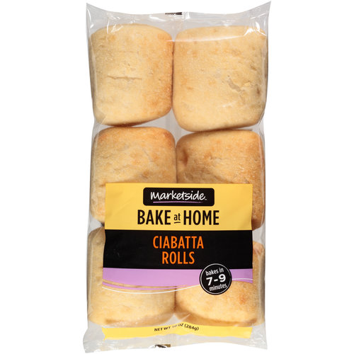Marketside Bake at Home Ciabatta Rolls, 10 oz