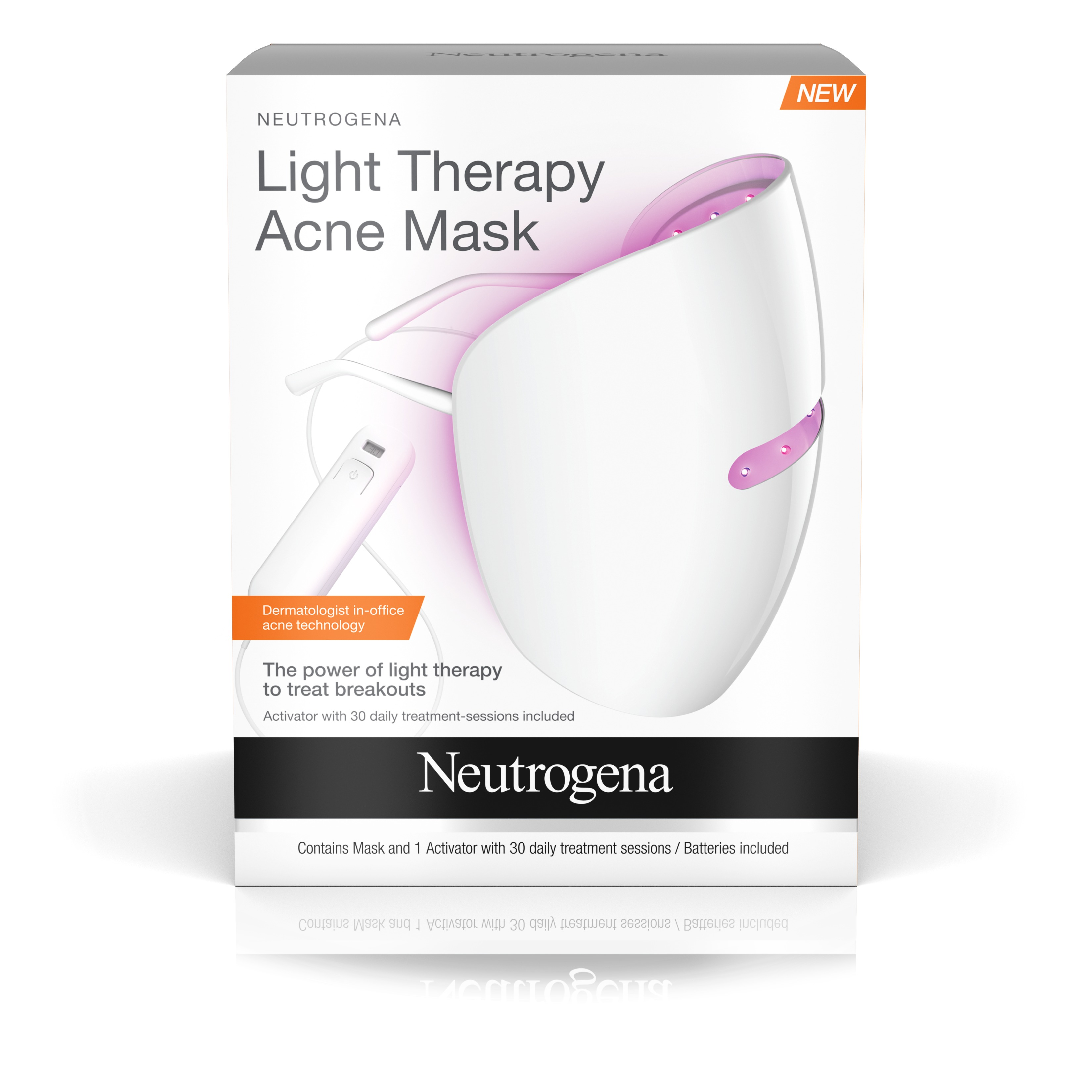 Neutrogena Light Therapy Acne Treatment Face Mask, 1 ct