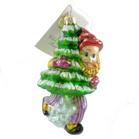 Harmony Ornament (Christopher Radko HARMONY HELPERS Blown Glass Ornament Elf)