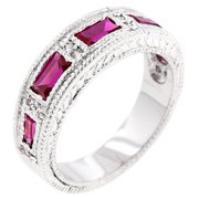 Sunrise Wholesale Merchandise J3473 Nightlife Garnet Eternity Band Ring (size: 10)