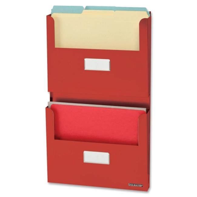 STEELMASTER Soho Collection 27120007 2-Pocket Organizer with Bracket Red